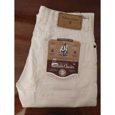 Marlboro Classics white Jeans da uomo in lino - BJU 019- Italianfashionglam