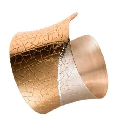 Bracciale donna alla schiava in argento dorato BR 026 Italianfashionglam