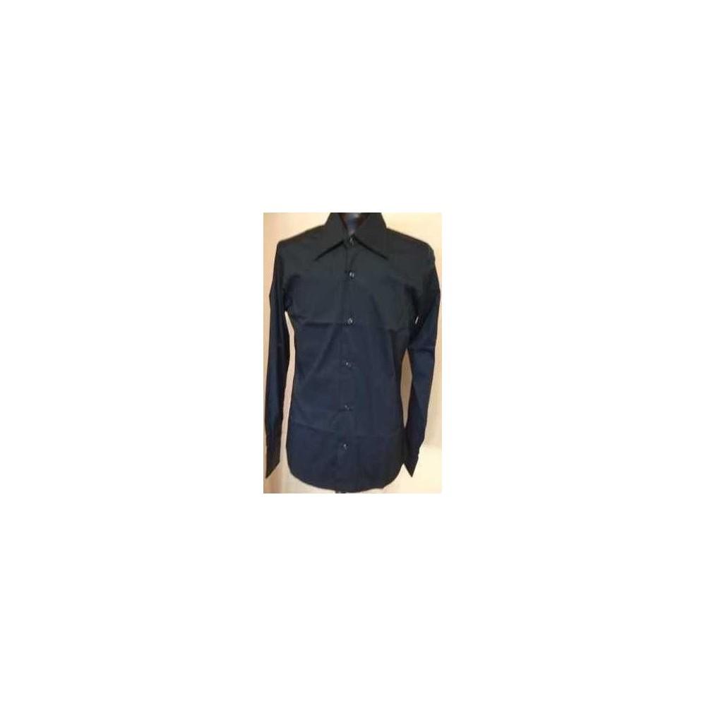 camicia-uomo-casual-cotone-color-grigio-scuro-manica-lunga-camicie-e-c-made-in-Italy-