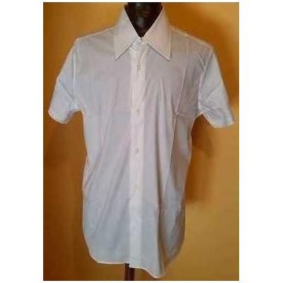 camicia-uomo-casual-cotone-color-bianco-manica-corta-leggera-Theatre-made-in-Italy-