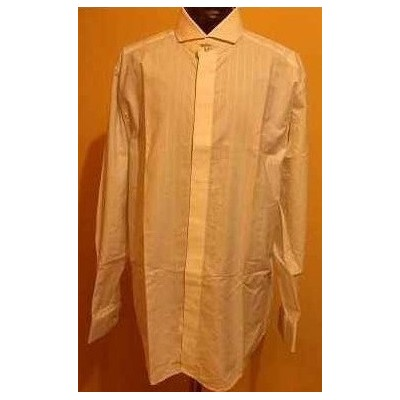 CAMICIA-UOMO-CERIMONIA-COLLO-FRANCESE-COTONE-BIANCO-PARTY-FESTA-GALA-COCKTAIL-STILE-PAL-ZILERI-MADE-IN-ITALY-