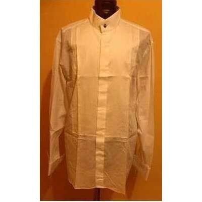 CAMICIA-UOMO-COTONE-BIANCO-COLLO-COREANA-ELEGANZA-STILE-CERIMONIA-FESTE-PARTY-COCKTAIL-PAL-ZILERI-MADE-IN-ITALY-
