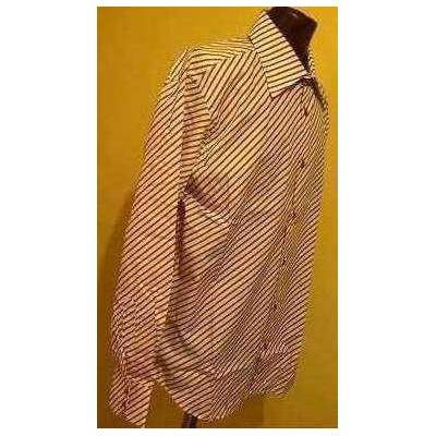 CAMICIA-UOMO-CLASSICA-COTONE-COLOR-RIGATA-BIANCO-MARRONE-MANICA-LUNGA-TENDENZA-BARRYMORE-MADE-IN-ITALY-