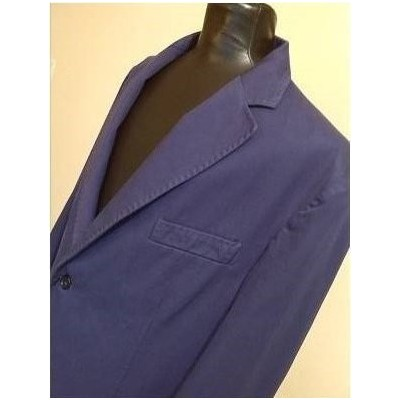 GIACCA-UOMO-COTONE-COLOR-BLUE-VIOLA-2-BOTTONI-CASUAL-TENDENZA-SARTORIA-RUGGERI-MADE-IN-ITALY-