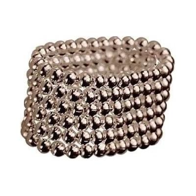 Anello fashion donna artigianale in argento a sferette-Italianfashionglam- 1