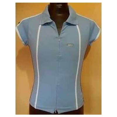 POLO-DONNA-COTONE-STRETCH-COLOR-CELESTE-CASUAL-COMODA-TEMPO-LIBERO-SPORT-SHOPPING-ELLESSE-MADE-IN-ITALY-
