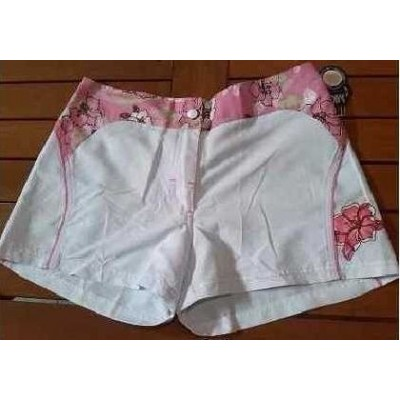 SHORTS-DONNA-TESSUTO-TECNICO-COLOR-BIANCO-ROSA-SEXI-TRENDY-FASHION-LOOK-SPORT-MARE-