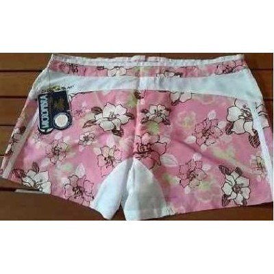 SHORTS-DONNA-COLOR-BIANCO-FANTASIA-FLOREALE-ROSA-SPORT-ARIA-APERTA-TENNIS-MARE-SHOPPING-SEXI-CHIC-