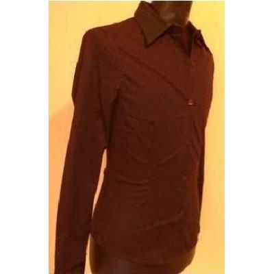 blusa-elegante-bordò-manica-lunga-POLSINI-COLLETTO-PELLE-DESIGN-GUSTO-CHARME-CHIC-