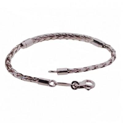 Bracciale fashion uomo a catena in argento - BRU 016