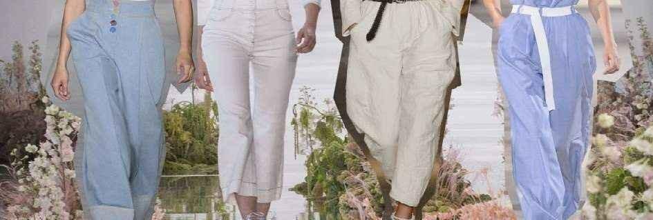 Coloratissima collezione di pantaloni griffati da donna,in diversi stili e design fashion,confezionati con pregiati tessuti,in lana,cotone,lino,e seta,attuali e alla moda,dal taglio classico,elegante o casual che sia,