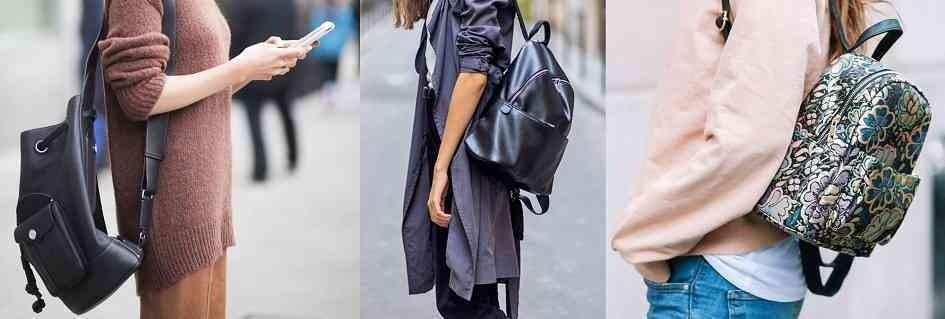 Zaini unisex fashion in pelle