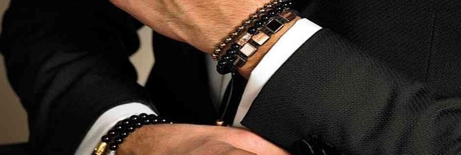 Collezione bracciali uomo in metalli preziosi fatti a mano