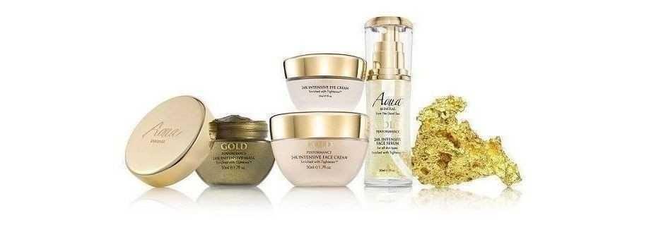Aqua Mineral Gold 24k cosmesi per da cute viso e corpo
